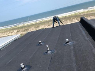 Black granulated commercial rubber roof Wildwood, NJ