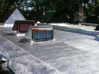 Flat roof silver coat for smooth rubber Philadelphia