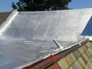 Flat roof silver coat for smooth rubber Philadelphia PA