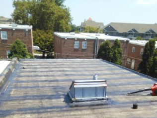 New skylight smooth rubber roof Mayfair